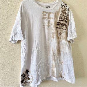 Men's Ecko Unlimited White 2x Short Sleeve T-shirt